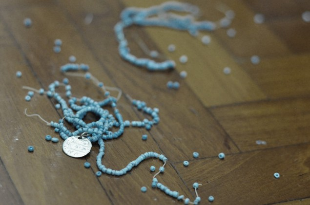 broken beaded bracelet