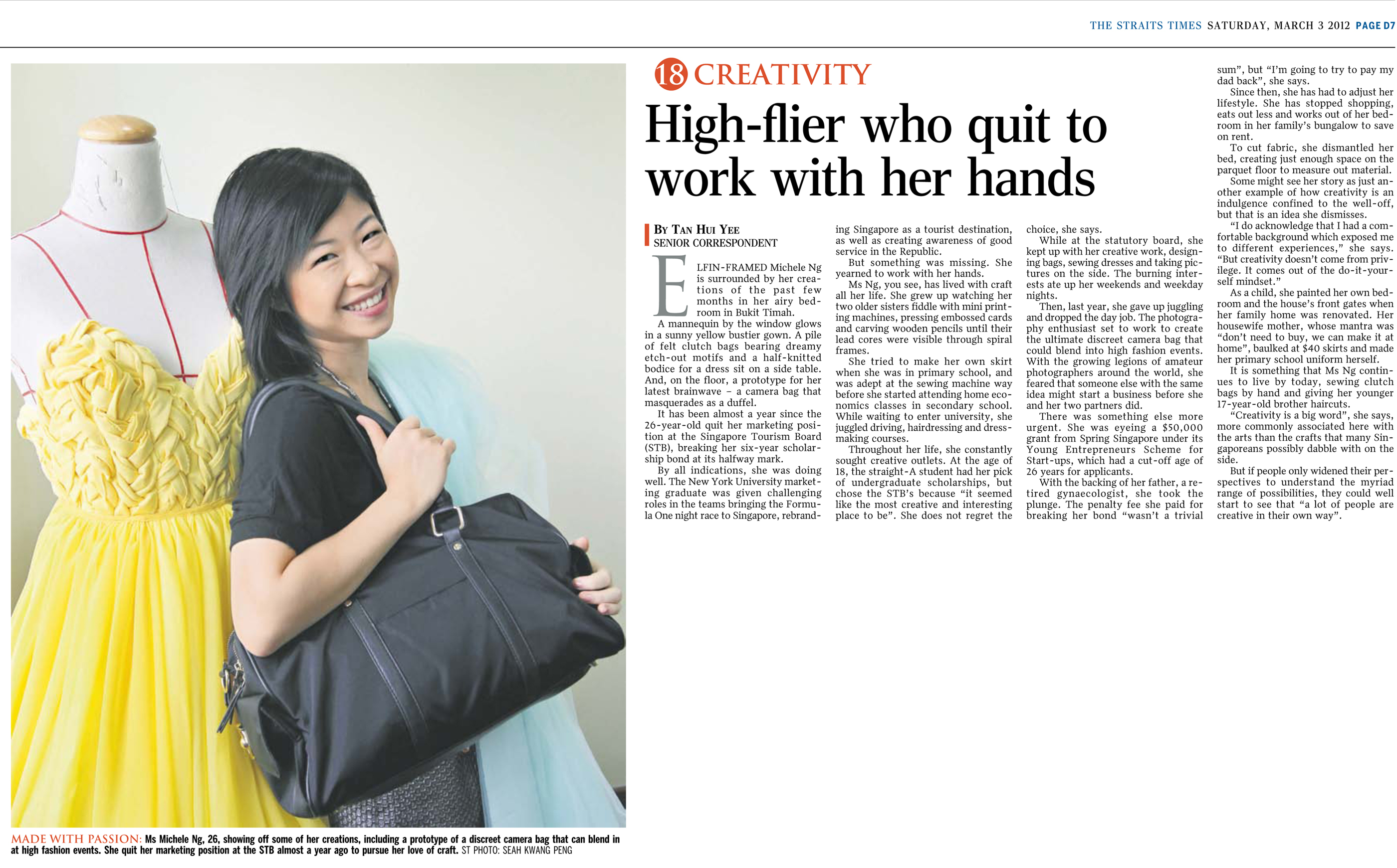 The Straits Times Saturday 3 March 2012