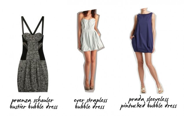 bubble dress - proenza schouler ever prada