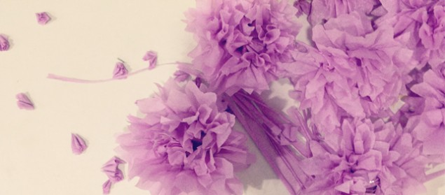 crepe flower purple