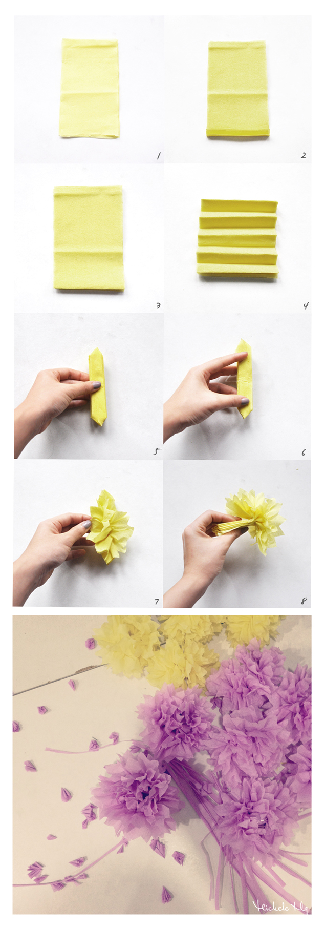 crepe flower tutorial