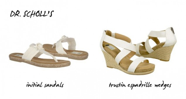 dr scholls white espadrille and sandals