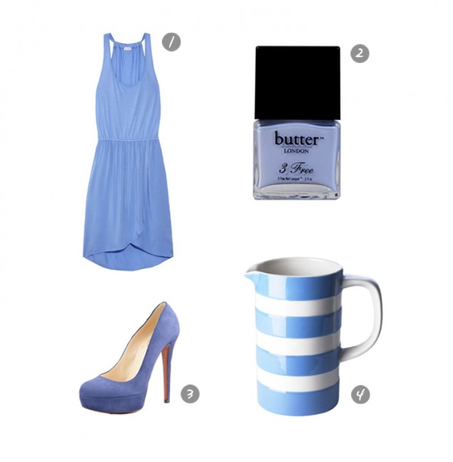 Try periwinkle, cornish or cornwall blue to refresh your look