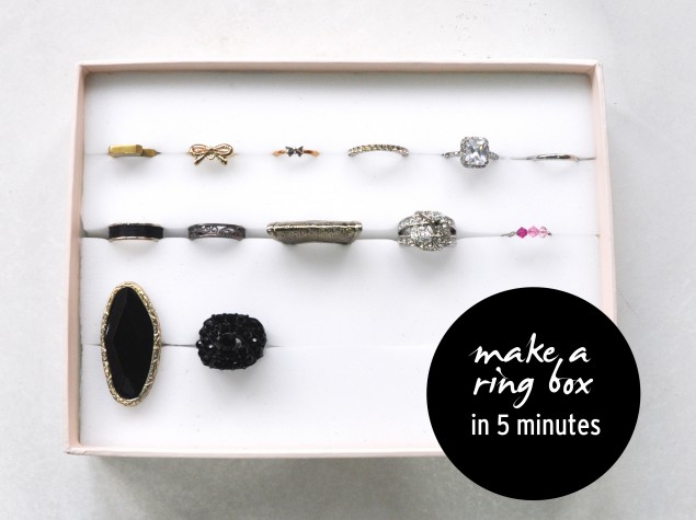 how to make a ring box in under 5 minutes for cheap