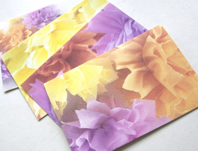 beautiful crepe flower cards set of four