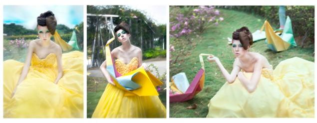 canary float dress