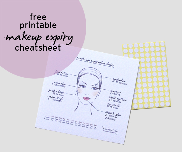 free printable make up expiry