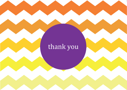download free printable thank you card sunny chevron