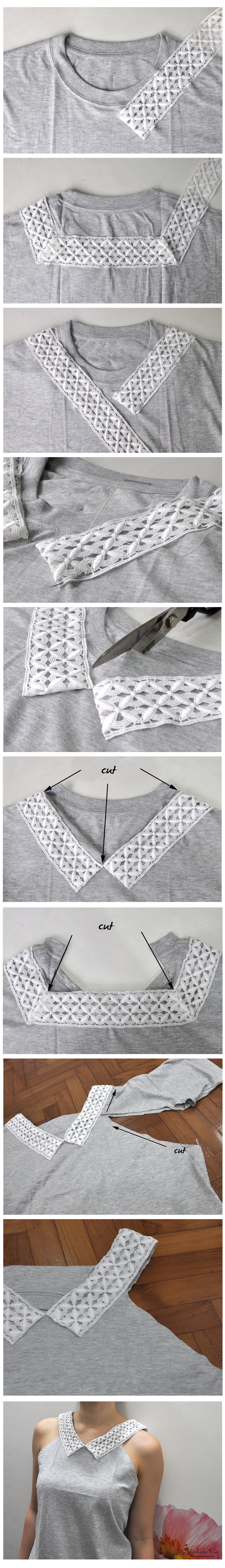 how to upcycle a plain old tee shirt tutorial