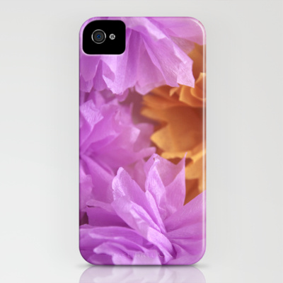 iphone 4 case crepe flower tangerine society6