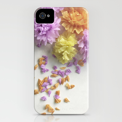 iphone 4 case crepe flower spray society6