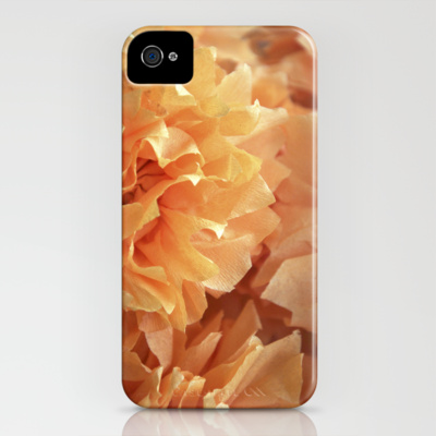 iphone 4 case crepe flower orange society6