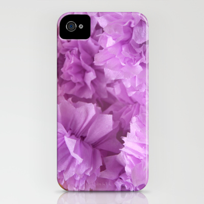 iphone 4 case crepe flower lavender society6