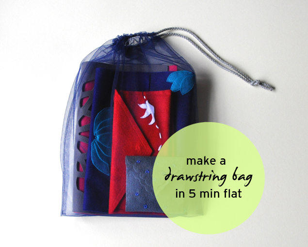 how to make a tulle drawstring bag in 5 minutes fast and easy