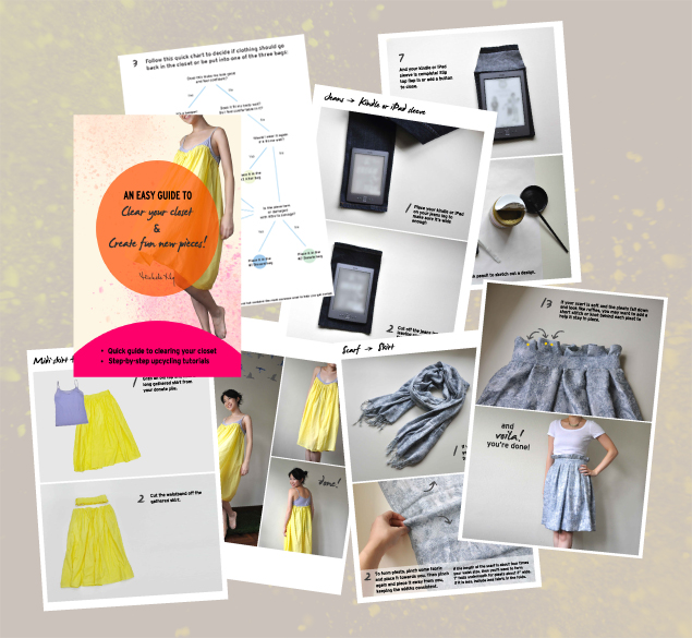 inside the ebook on how to clear your closet and make new items from old clothes