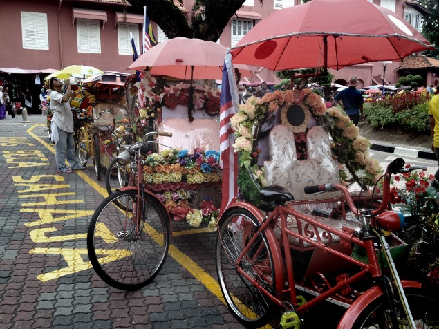 malacca bicycle trishaw