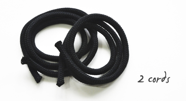 DIY tutorial on how to make a simple knotted belt 1