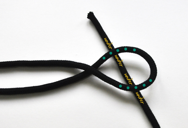 DIY tutorial on how to make a simple knotted belt 3