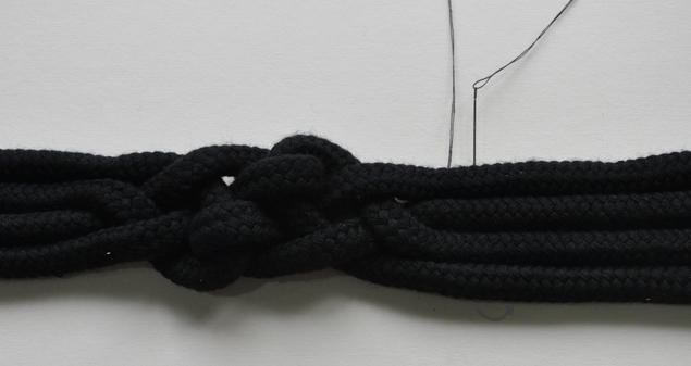 DIY tutorial how to make a knotted belt step 10