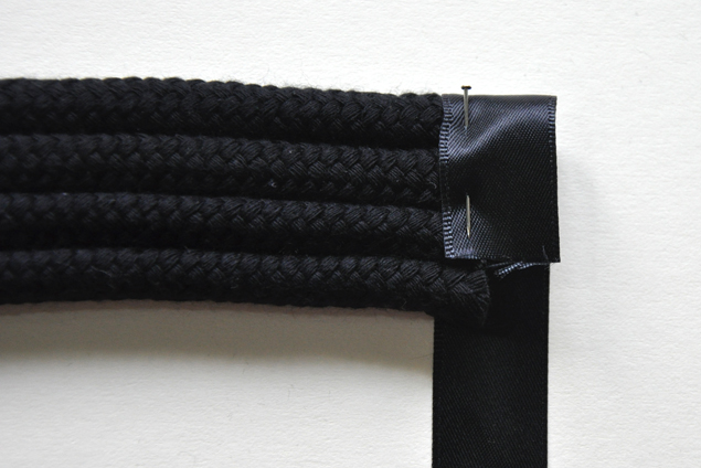 DIY tutorial how to make a knotted belt step 11
