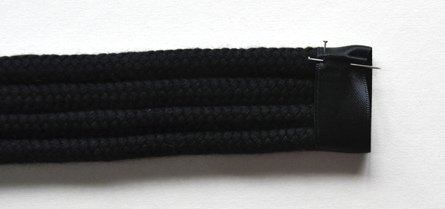 DIY tutorial how to make a knotted belt step 12