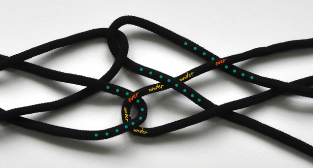 DIY tutorial for knotted belt step 5