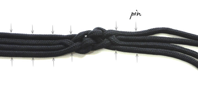DIY tutorial how to make a knotted belt 7