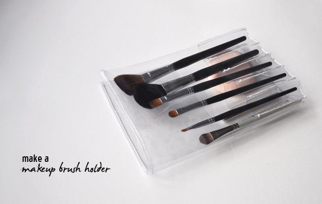 DIY tutorial - PVC makeup brush holder