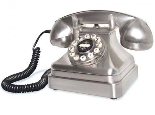 chrome vintage lobby phone by wild and wolf