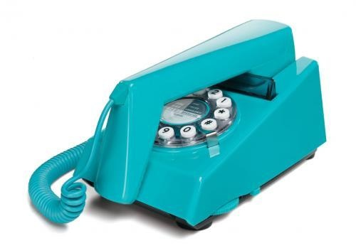 wild and wolf retro trim phone turquoise
