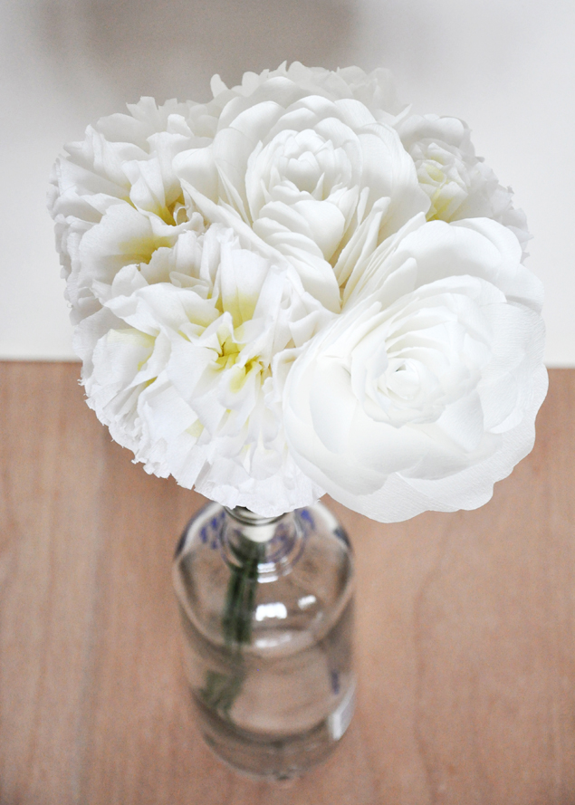 paper flower bouquet | micheleng.com