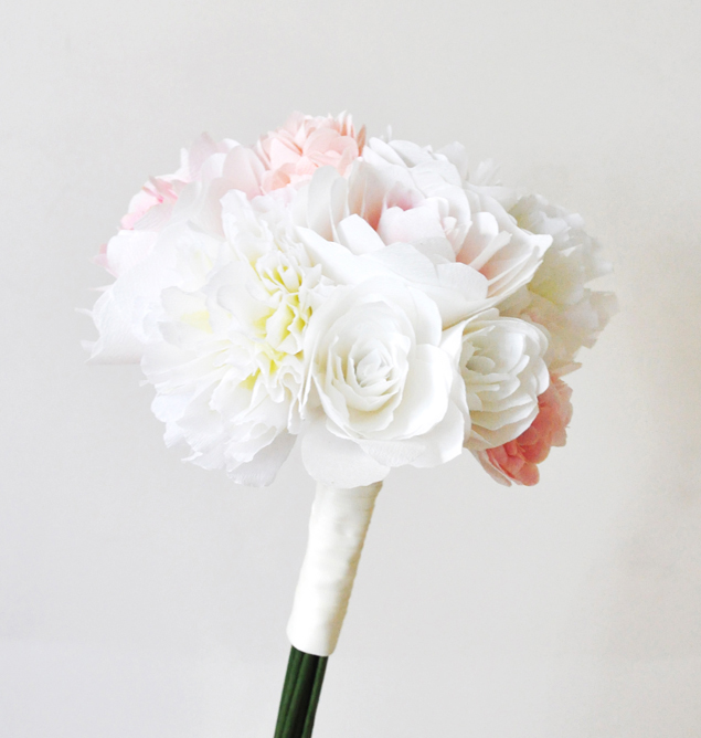 paper flower bridal bouquet | micheleng.com