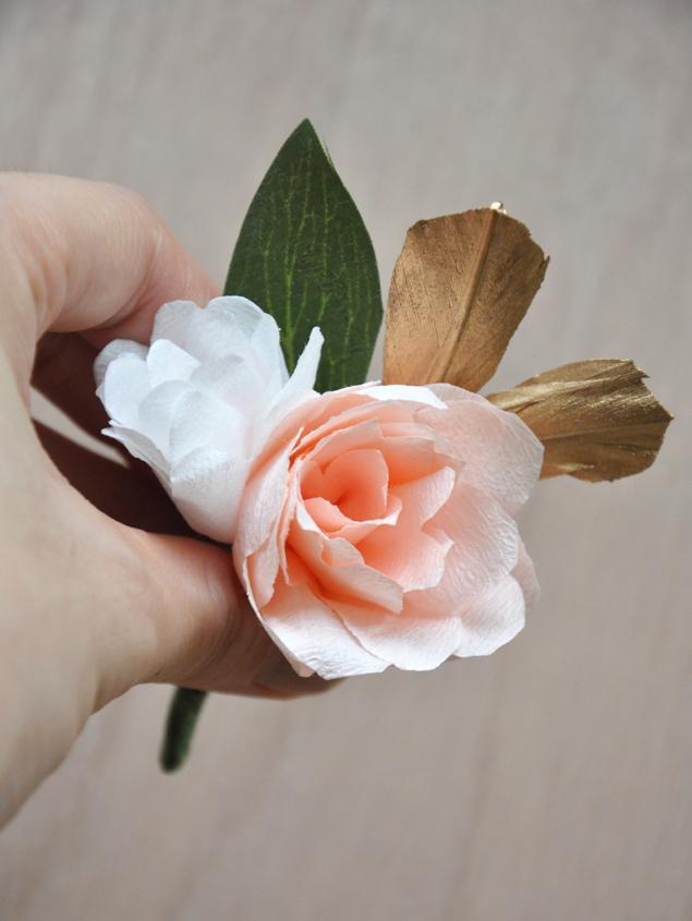 paper flower corsage | micheleng.com