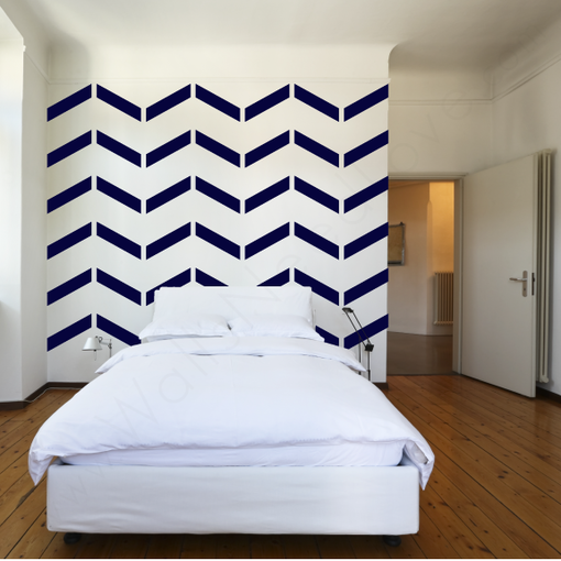 Modern wall decals that brighten up your day for Chevron template for walls