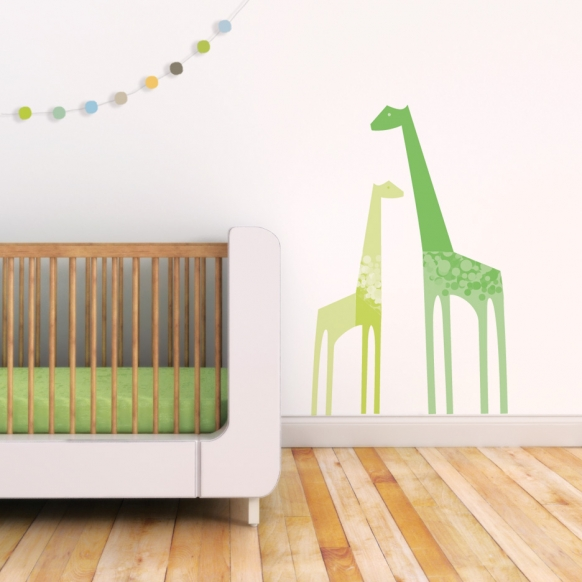 Giraffes wall decal for nursery by Trendy Peas