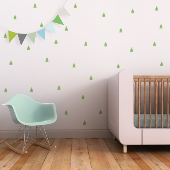 Pinetree wall decal for nursery | Trendy Peas