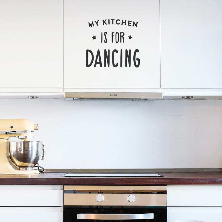 My kitchen is for dancing wall decal by Made Of Sundays