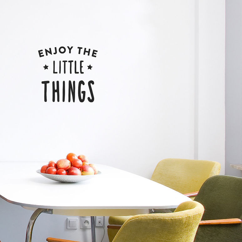 Enjoy the little things wall decal by Made Of Sundays
